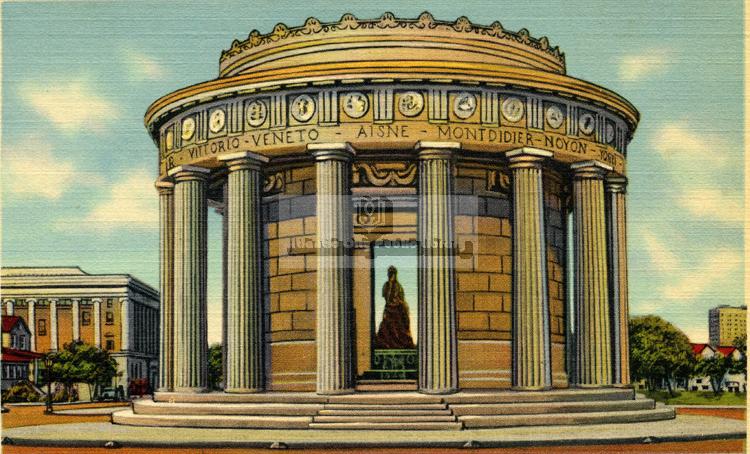 1940. World War I Memorial. (H049.725.94Wor004 Atlantic City Heritage Collections, Atlantic City Free Public Library)