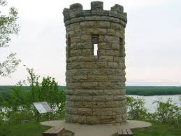 The Julien Dubuque Monument was erected in 1897 over Dubuque's grave.