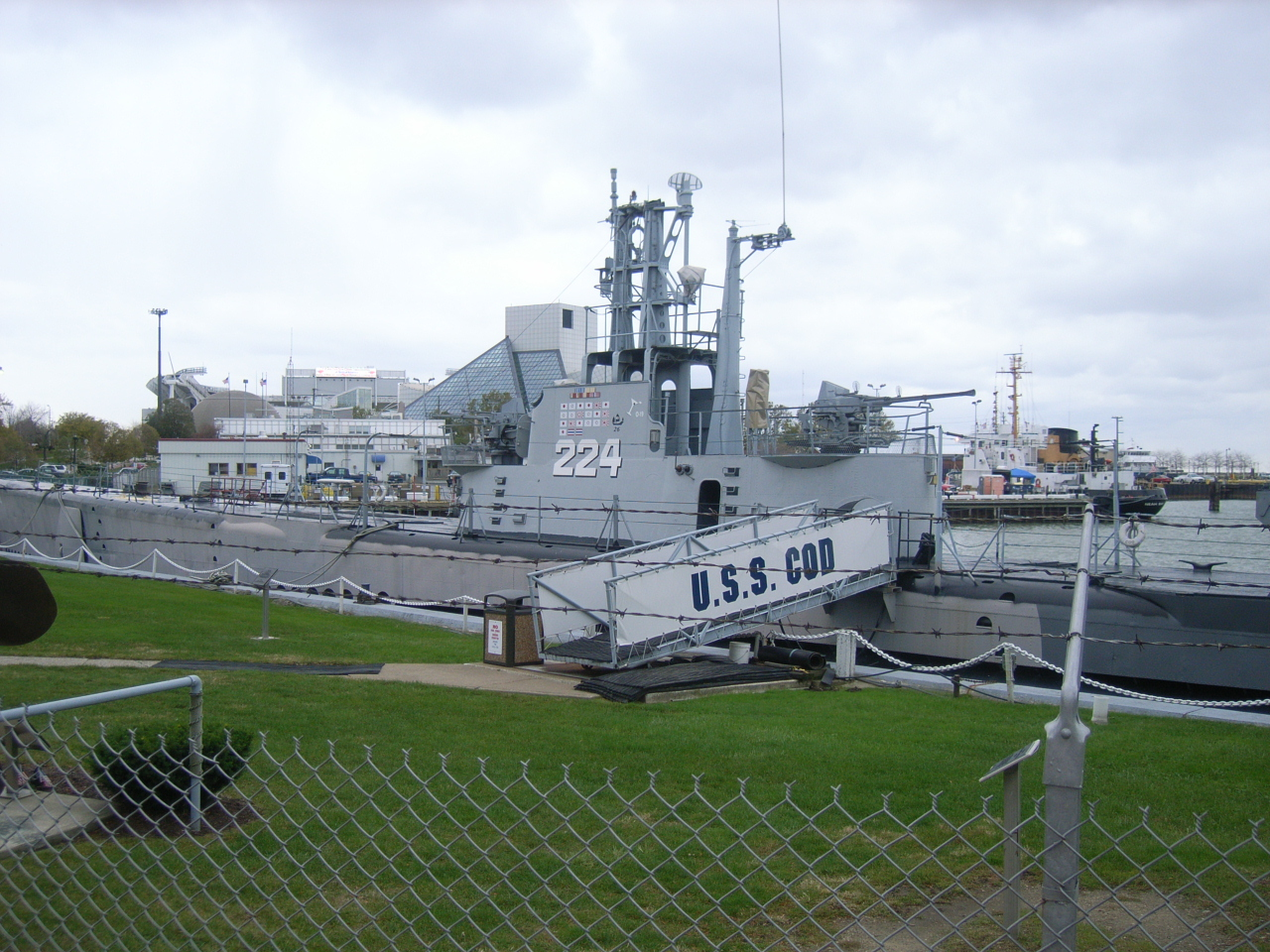 Exterior shot of the USS Cod