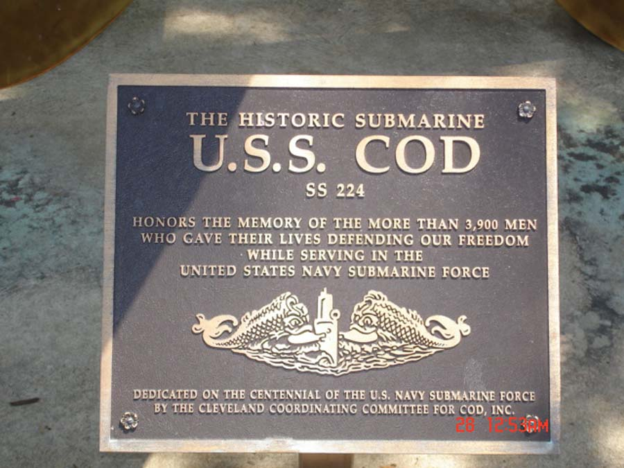 A memorial dedicated to the submariners and their sacrifices