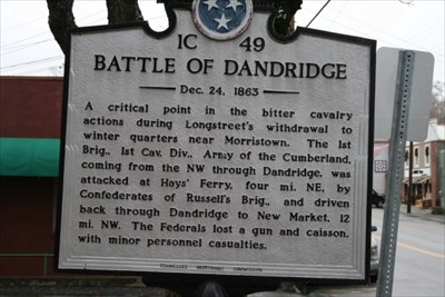 Historical marker with a short account of the battle