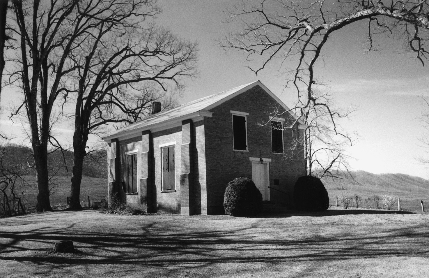 Crockett's Cove Presbyterian Church, photo from the Virginia Dept of Historic Resources