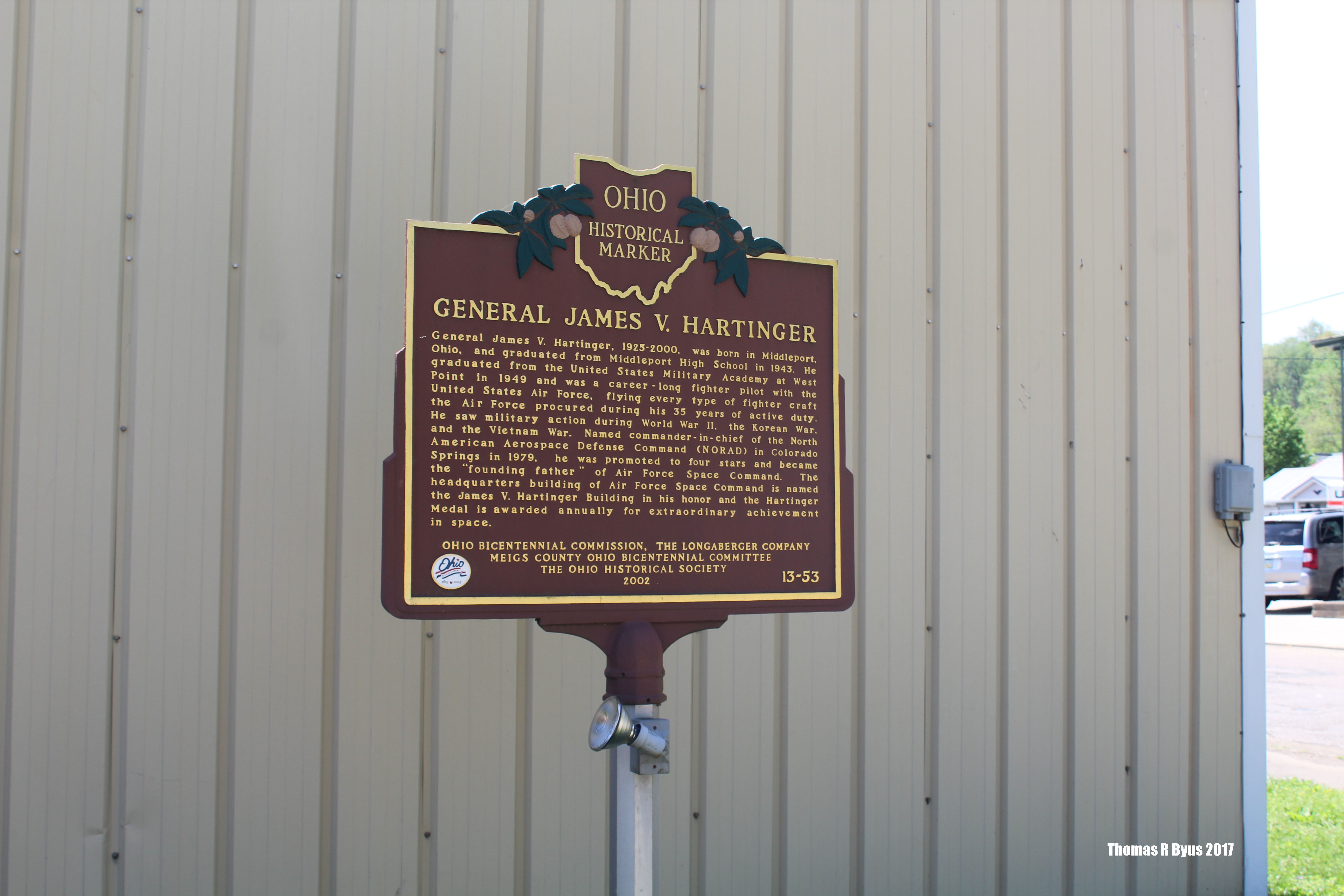 The historical marker at 229 Mill St, Middleport, Ohio