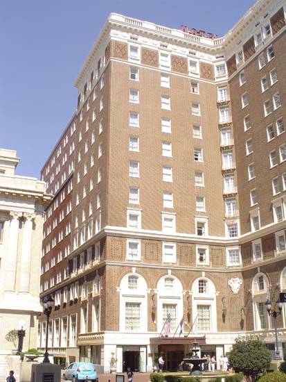 Front side of hotel