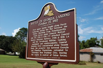 This is a picture of the actual marker itself.  It offers a brief summary of the battle.