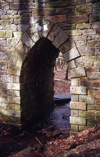 Closeup of bridge arch