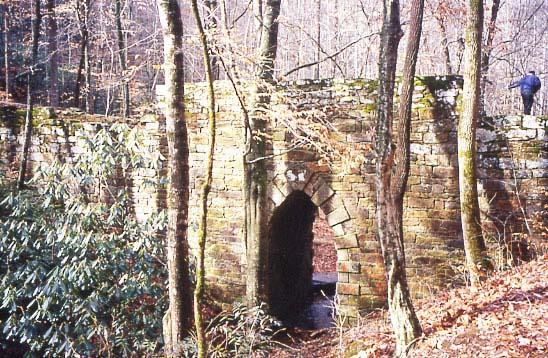 Side view of bridge
