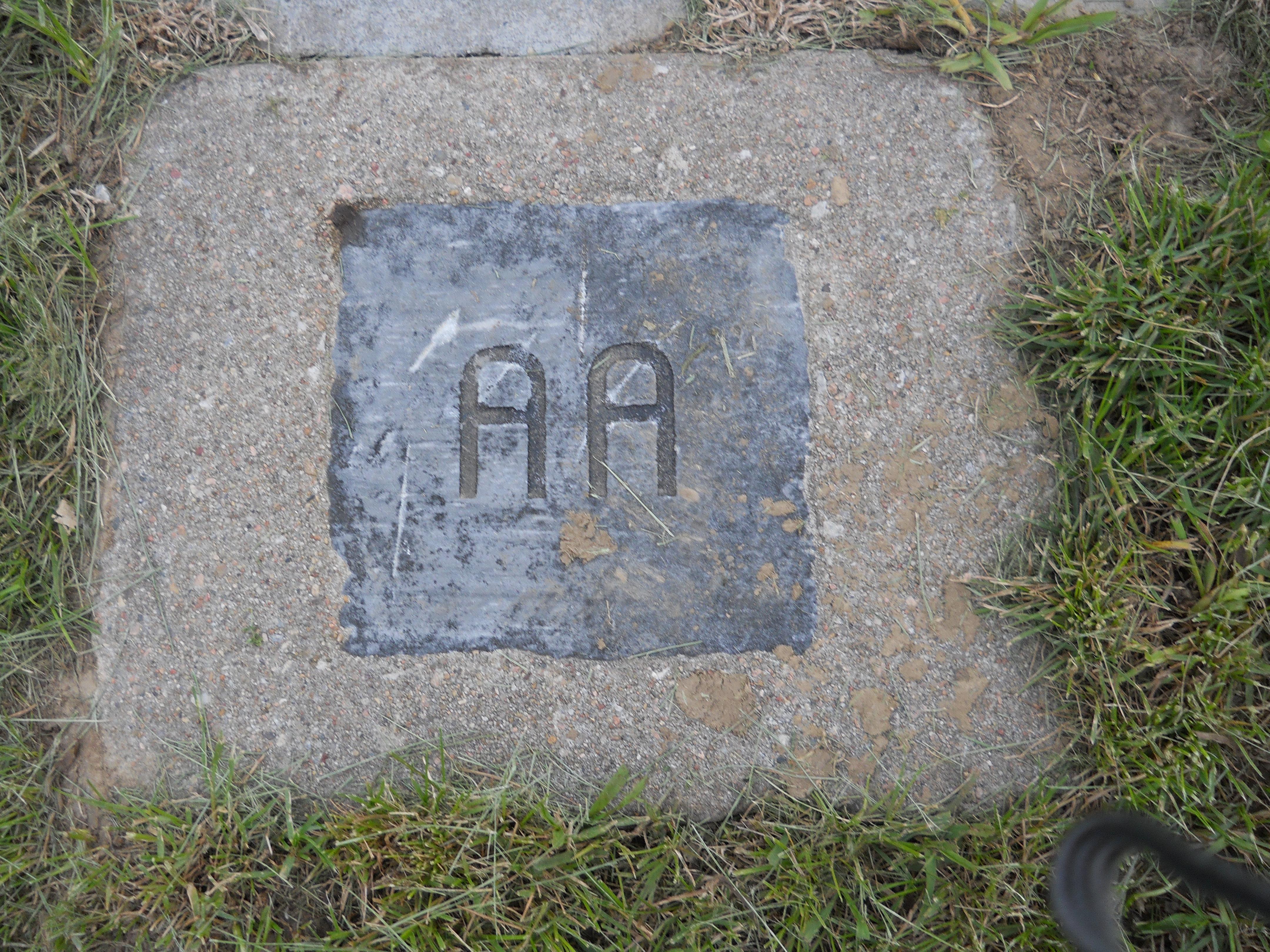 Old style row marker AA.