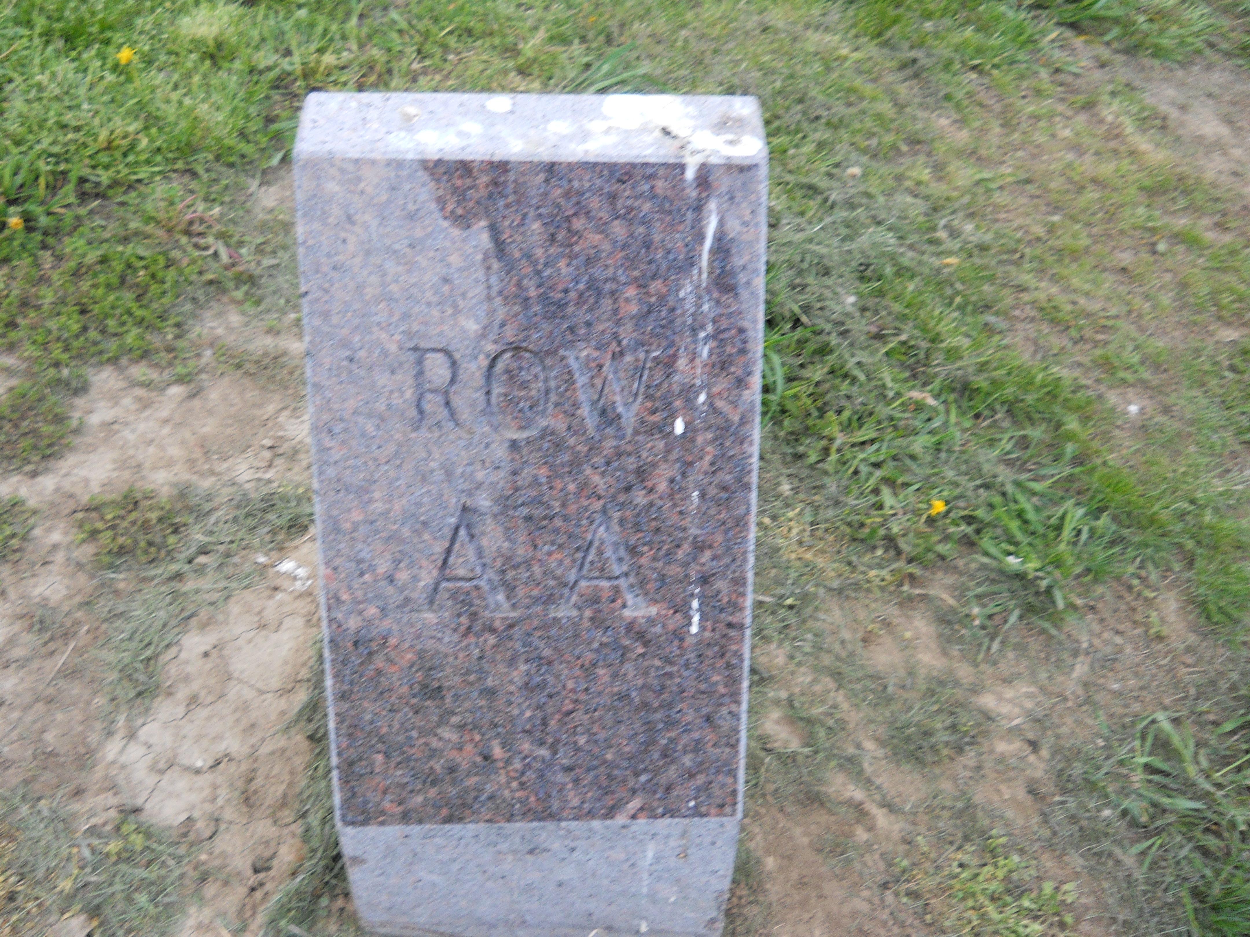 Modern row marker AA.