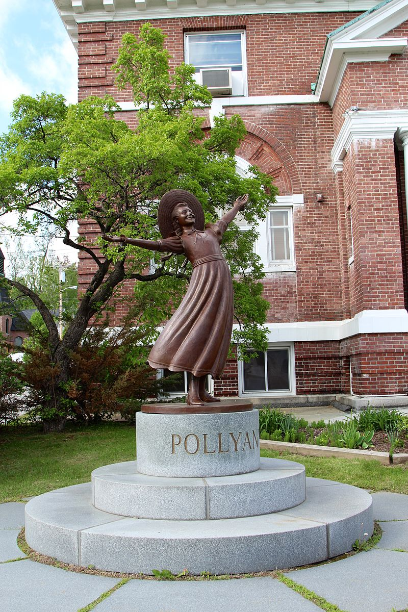 Bronze Pollyanna statue