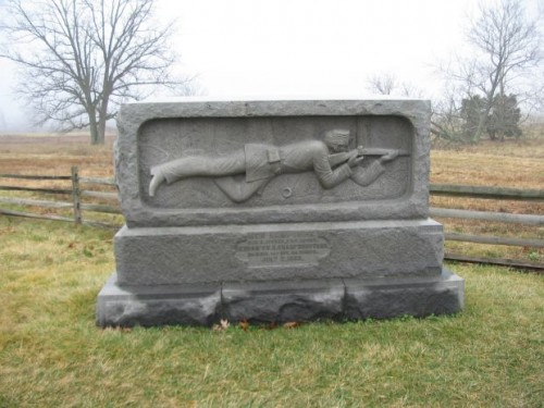 The monument to Berdan's Sharpshooters at Gettysburg