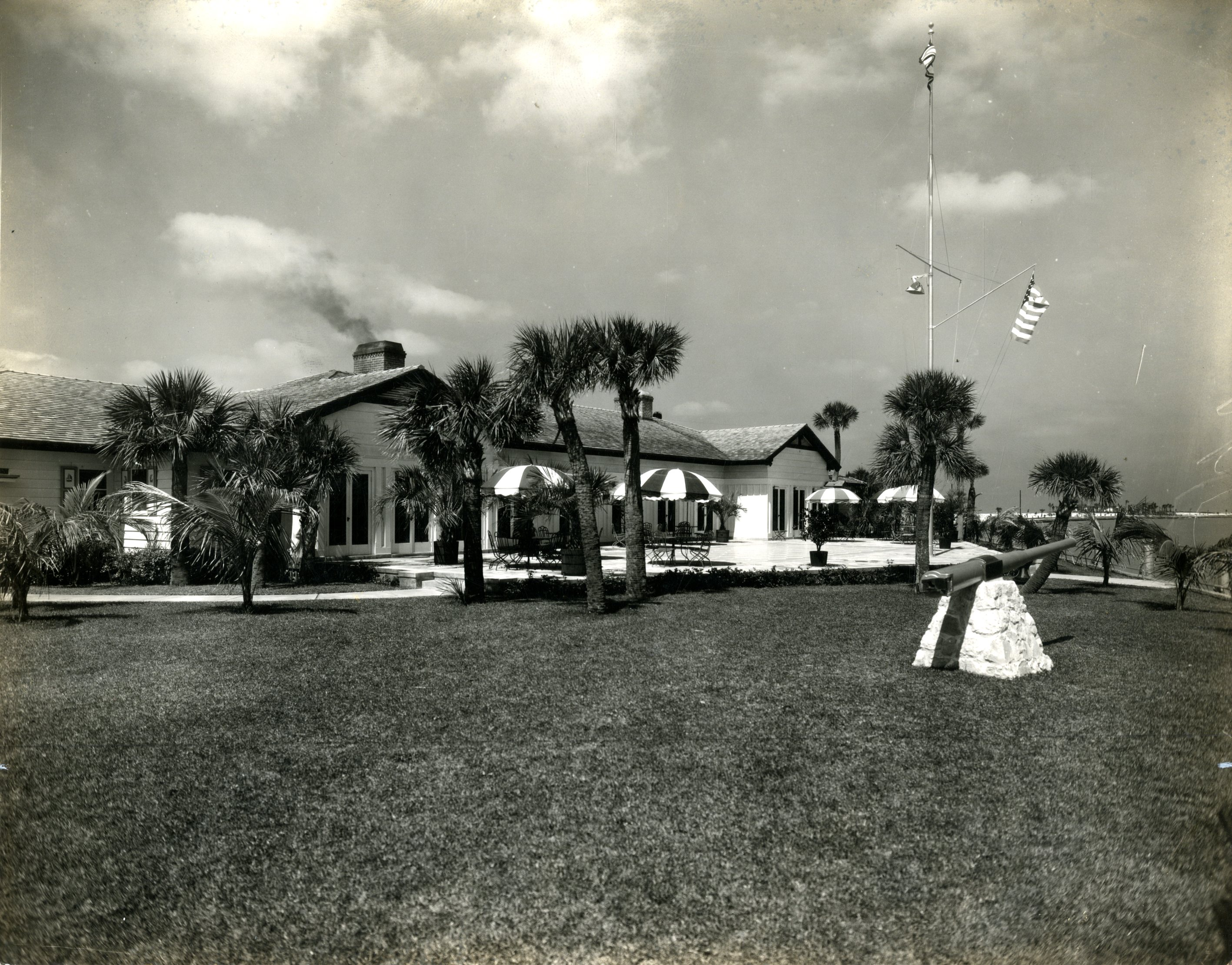 East view of Carlouel Yacht Club, Clearwater, Florida, undated.