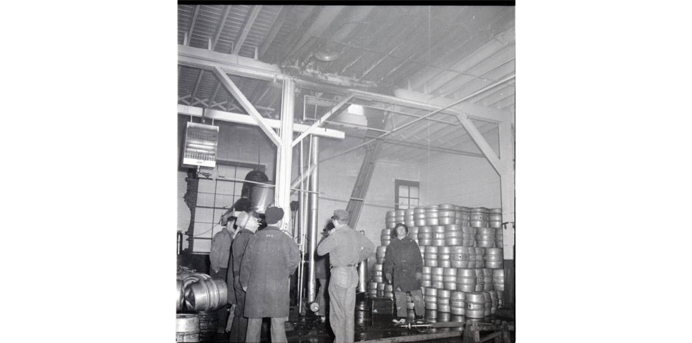 Fire Damage in the Brewery, 17 April 1956