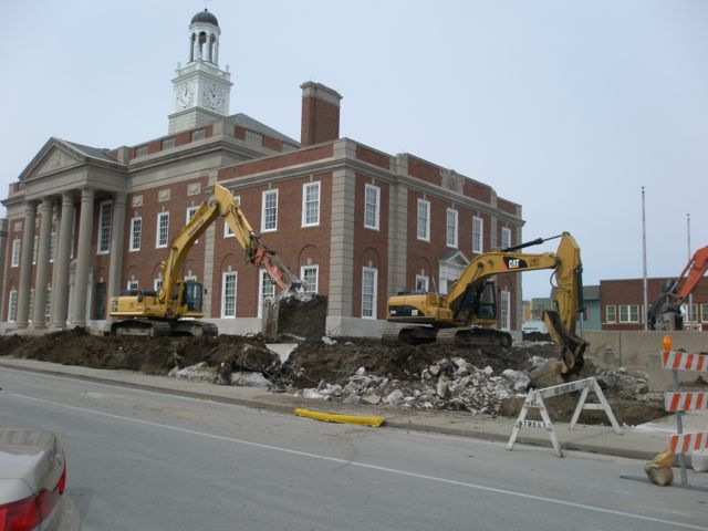 Truman Historic courthouse during recent renovations
