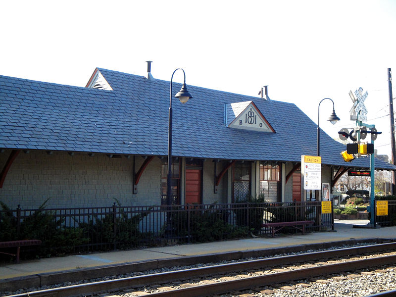 Kensington's train station, constructed in 1891
