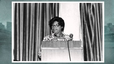 Photo of Dorothy Mae Richardson during her first NeighborWorks conference.
