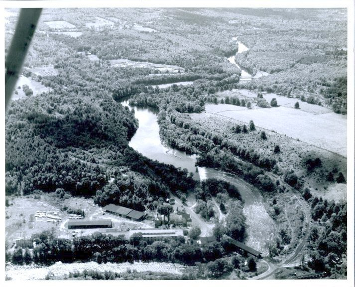 Image of West Hopkinton before construction of the Hopkinton-Everett Dam.