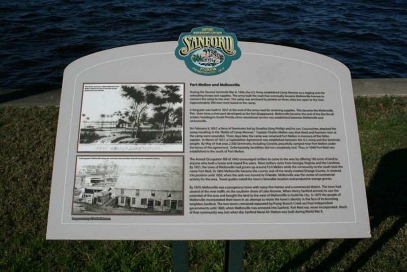Official Sanford Historic Plaque and Description on location