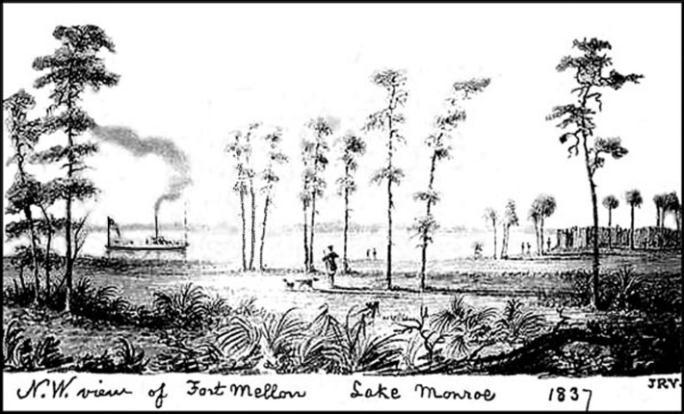 Original sketch of Camp Monroe 1837