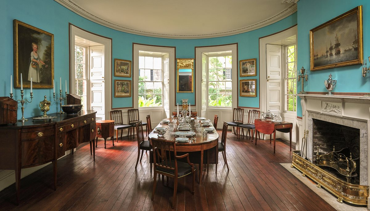 The house features period furnishings and works of art on display.