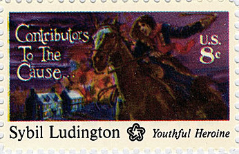 "1975 stamp. Other stamps in the series feature an African-American soldier, a Latino soldier, and a Jewish financier, in an effort by the American Revolution Bicentennial Commission and USPS to include a diverse array of ""Contributors to the Cause."""