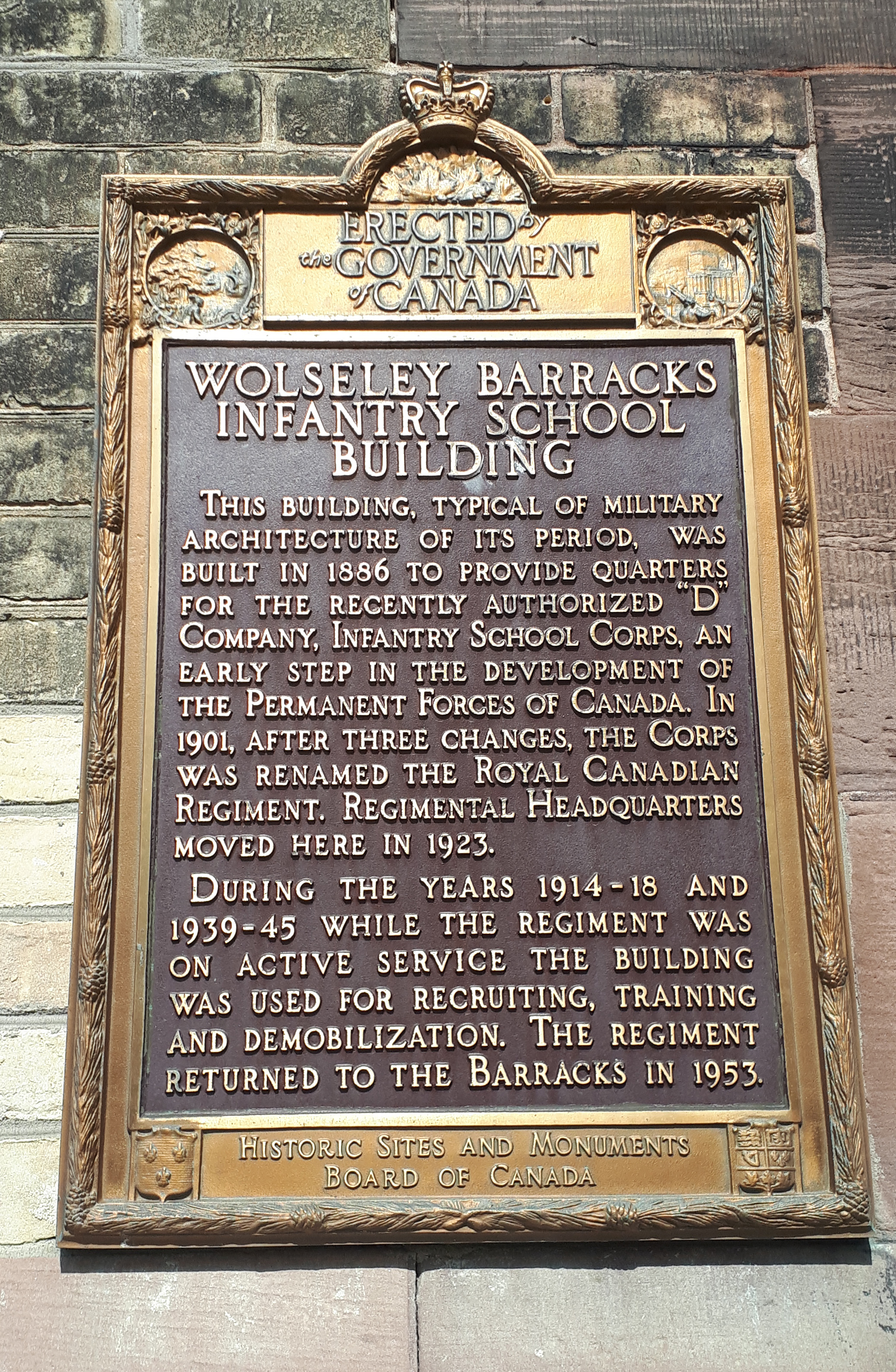 Historic Sites and Monuments Board of Canada Plaque