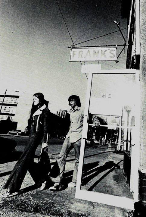 Outside Frank's, circa 1970s