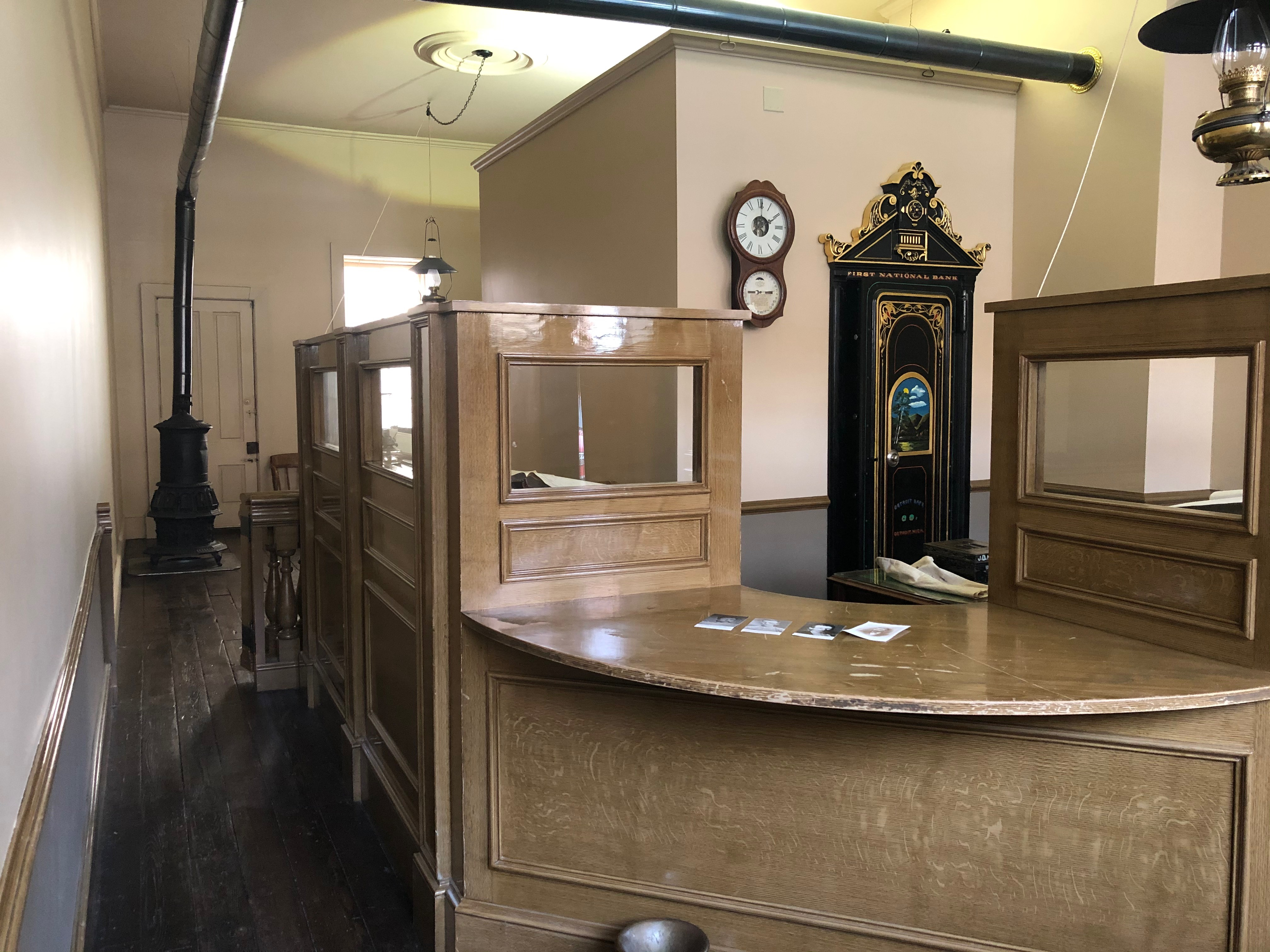 View from front entrance, First National Bank of Northfield