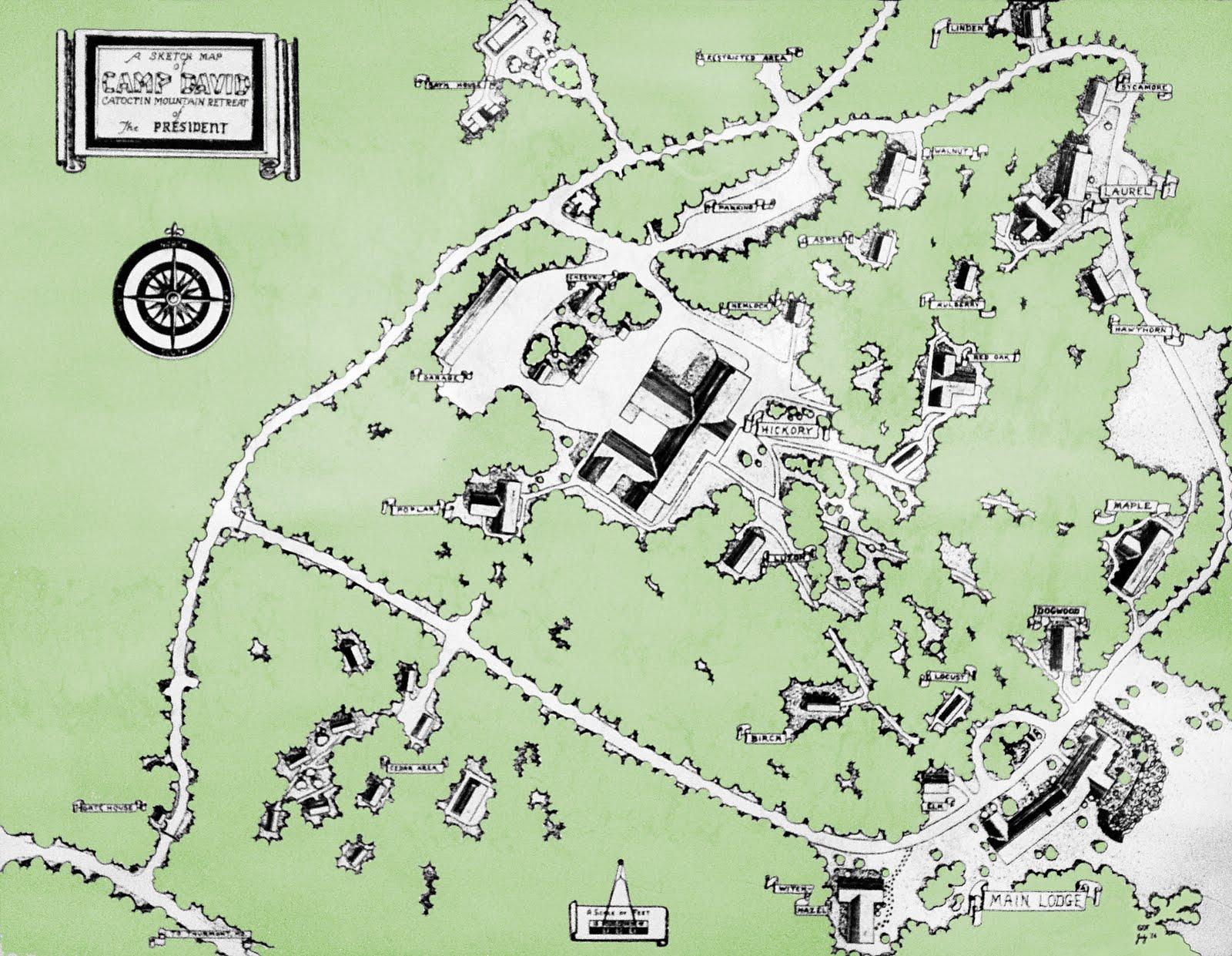 Map of Camp David