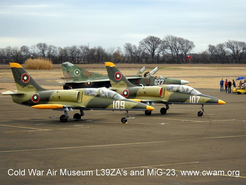 L39ZA's and MiG-23 at Cold War Air Museum Lancaster, TX