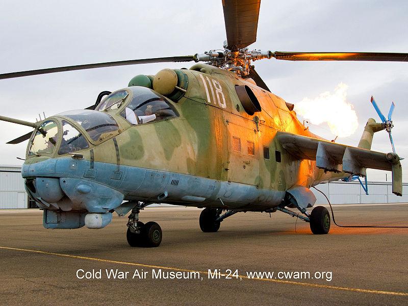 MI-24 at Cold War Air Museum Lancaster, TX