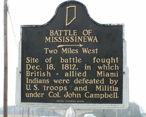 Photo of the road marker (http://www.mississinewa1812.com/)