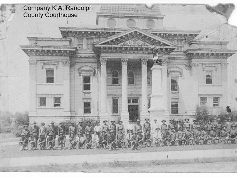 Company K at Randolph County Courthouse
