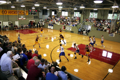This small gym was constructed in 1921 and became famous following the 1986 movie Hoosiers.