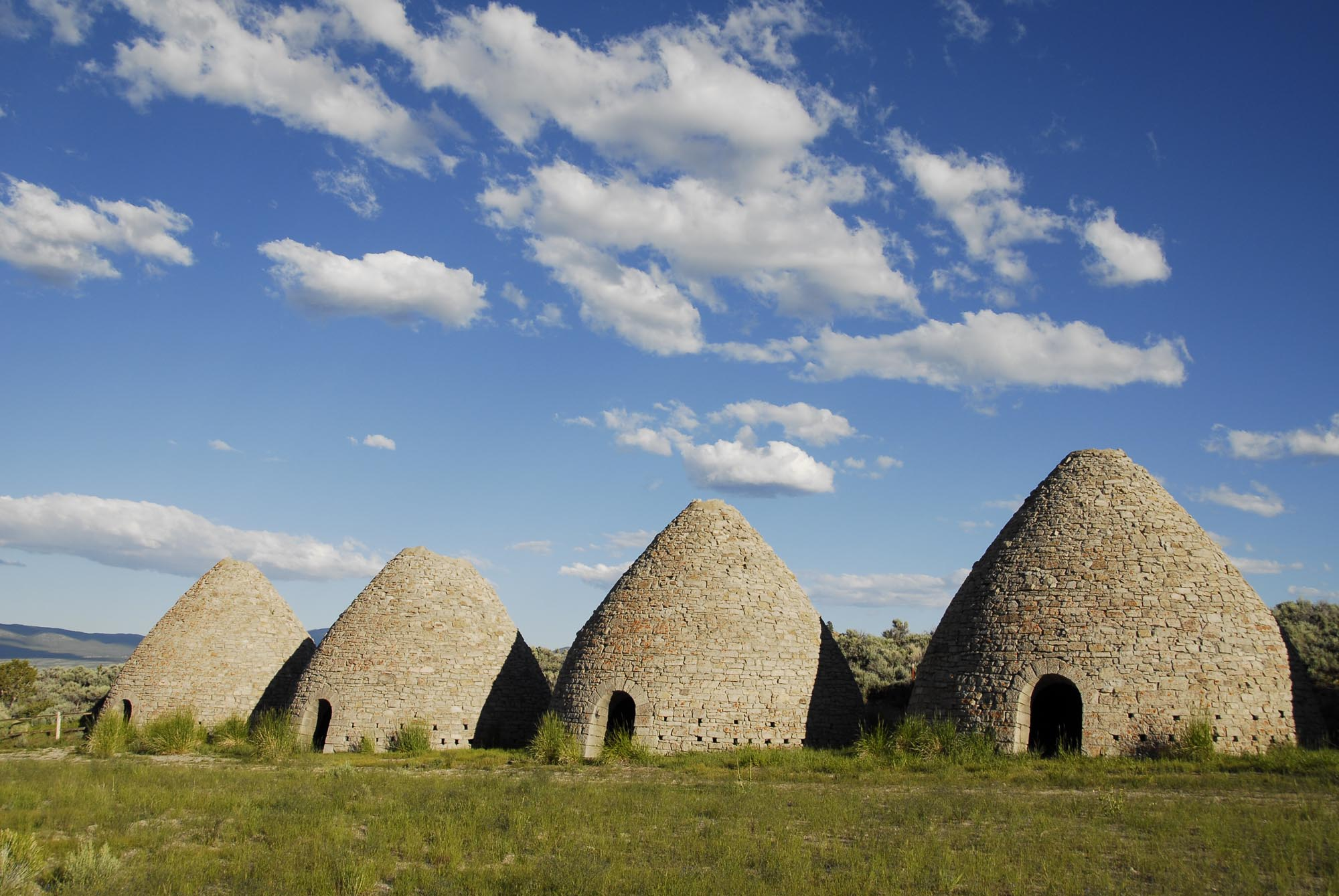 Italian immigrants produced charcoal in ovens like these at Ward Charcoal Ovens State Historical Park