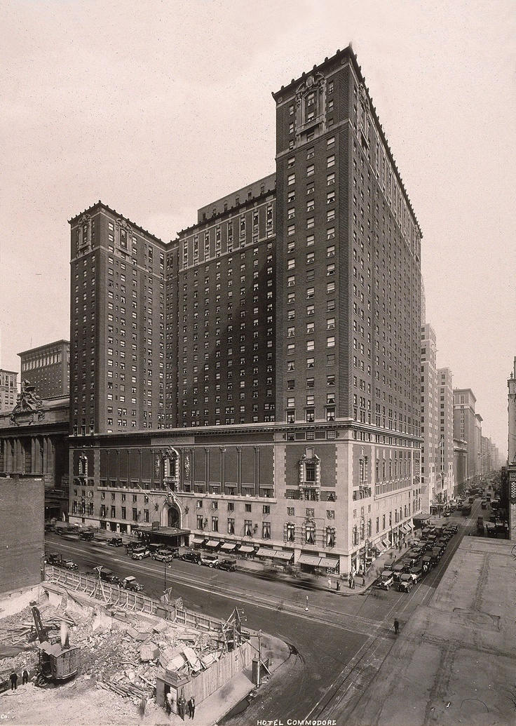 This photo shows the hotel shortly after its opening