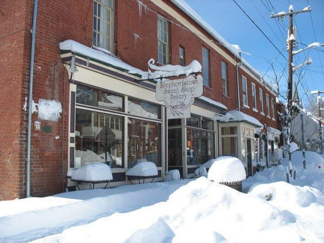 Shepherdstown Sweet Shop in Winter