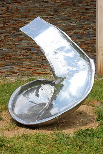 "Rob Fischer's ""Spiral Side,"" 2010. Displayed in a past exhibition (Omi International Arts Center)"