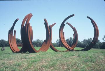 "Bernar Venet, ""Arcs in Disorder: 4 Arcs x 5,"" 2000. On display since 2002."