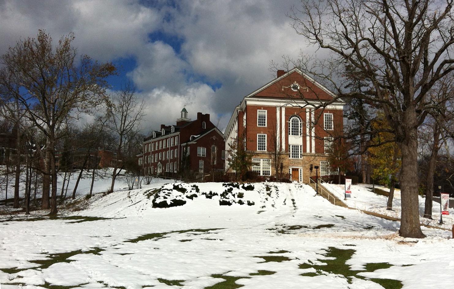 campus during winter