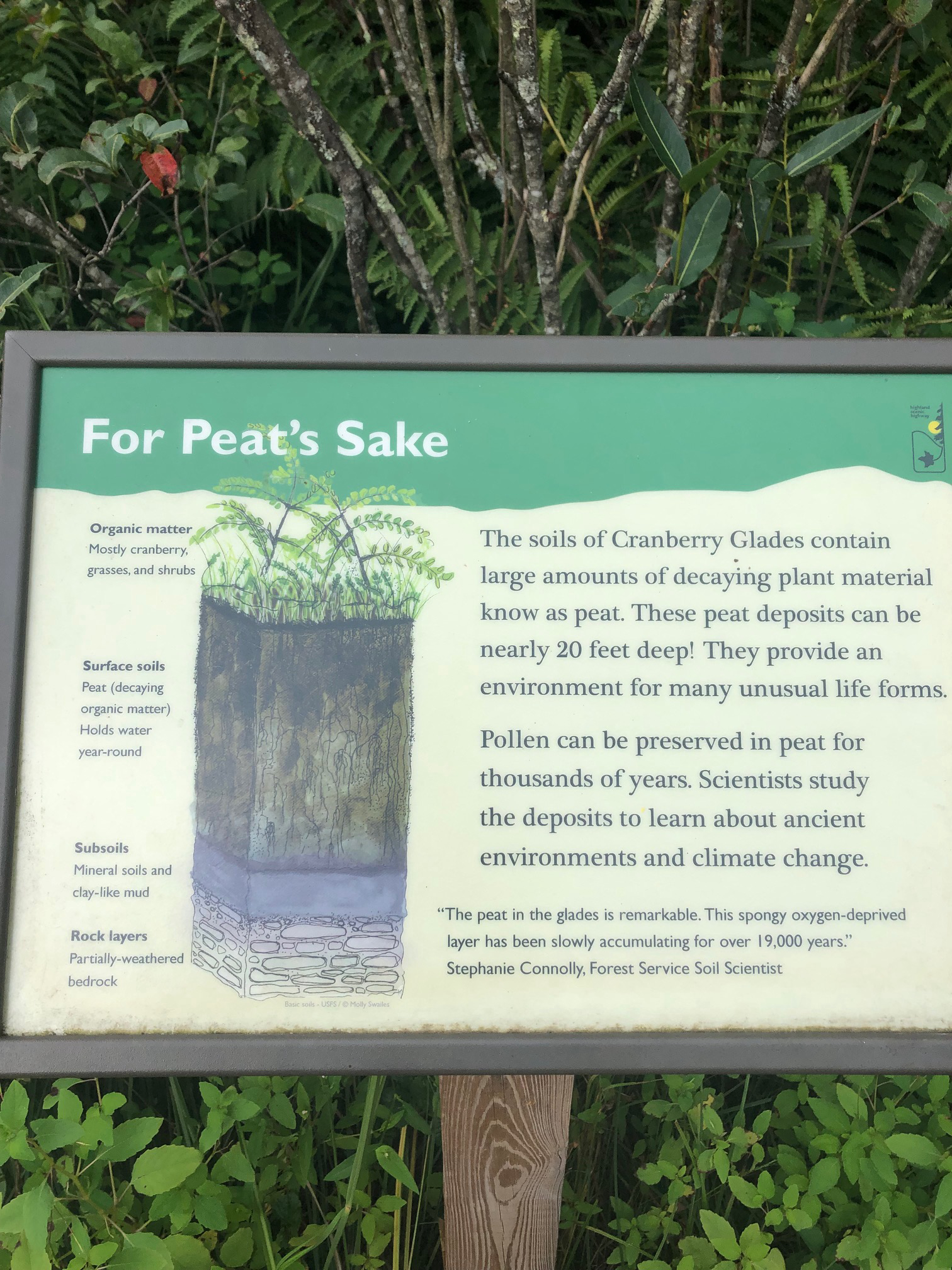 For Peat's Sake sign