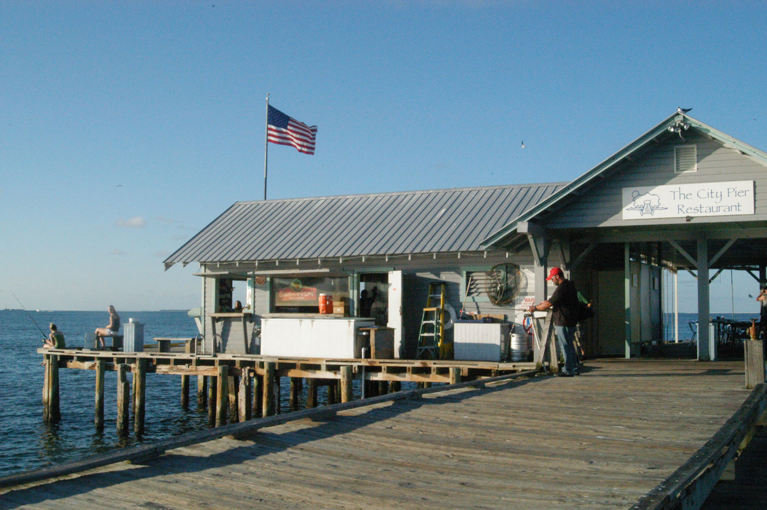 One of the building on the pier