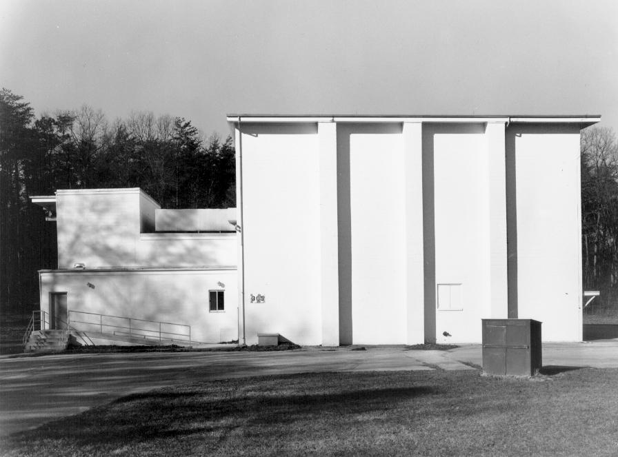 The nondescript exterior of the Spacecraft Magnetic Test Facility.