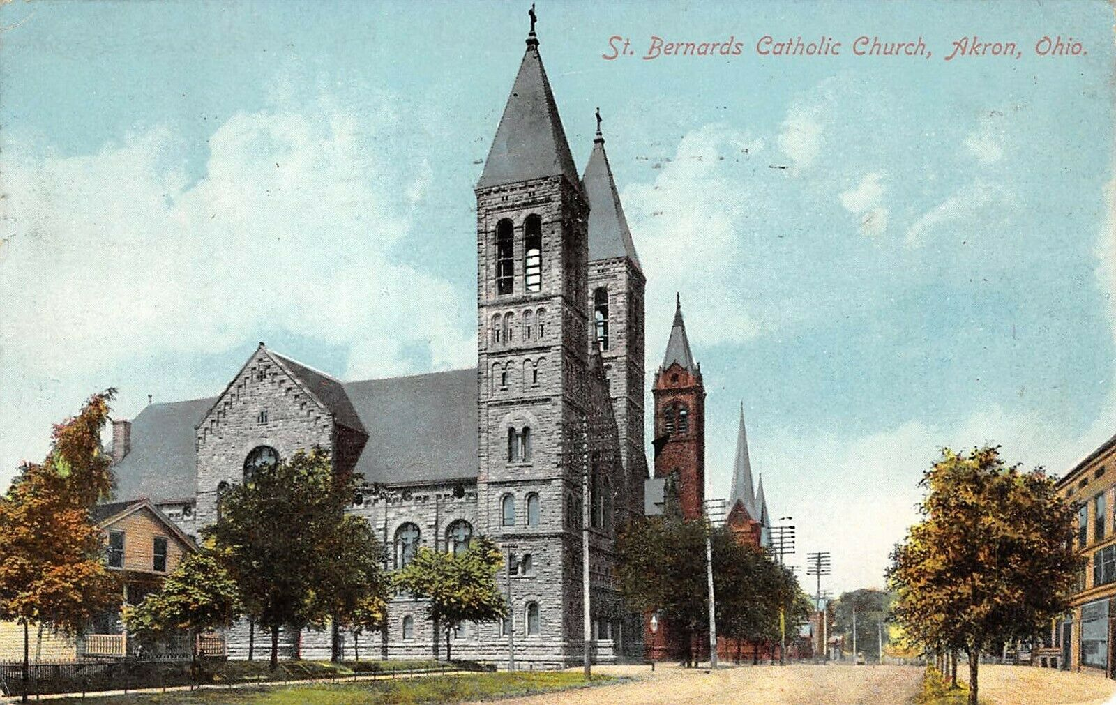 A postcard depicting St.Bernard's Church in 1909