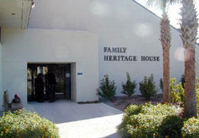 Entrance to the Family Heritage House