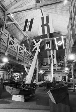 A boat exhibit created around the beginning of the Museum's opening