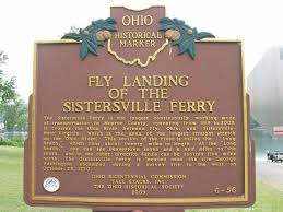 Historical marker sign in Fly, Ohio.