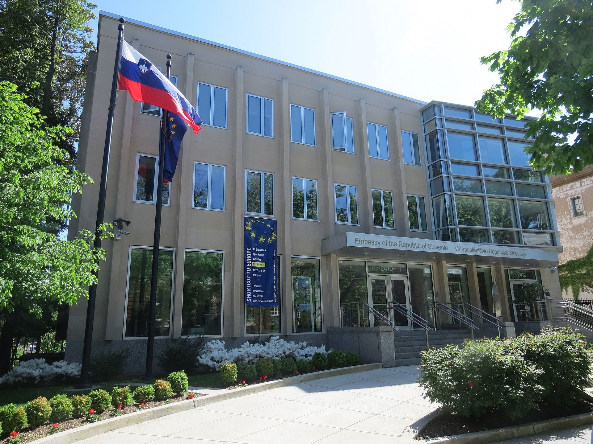 The Slovenian Embassy is located on Embassy Row.
