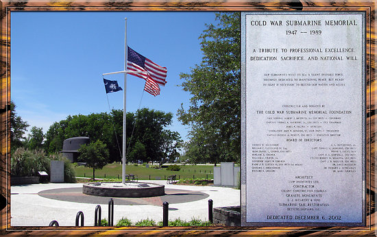 Cold War Submarine Memorial Sign and Flag