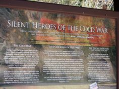 Silent Heroes of the Cold War plaque.